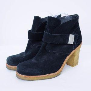 UGG Brienne Ankle Boots Suede Sheepskin Black